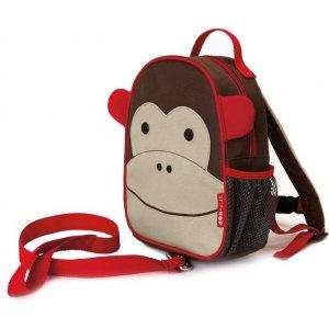 Skip Hop Zoo Batůžek s bezpečnostním vodítkem 1+ Opička