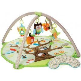 Skip Hop Deka na hraní 5 hraček, polštářek Treetop Friends green-brown 0m+