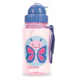 Skip Hop Zoo Hrnek s brčkem bez PVC a BPA 12m+ Motýlek