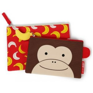 Skip Hop Kapsička na zip, 2ks Opička