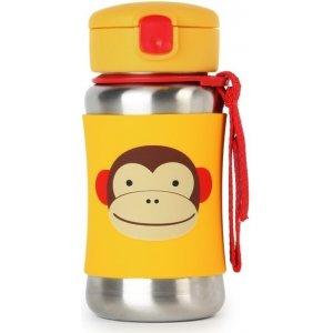 Skip Hop Zoo Láhev s brčkem na vodu nerez 12m+ Opička