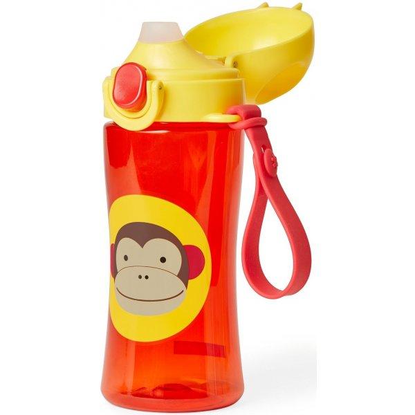 Skip Hop Zoo Láhev se silikonovým náustkem a uzávěrem 3+ Opička
