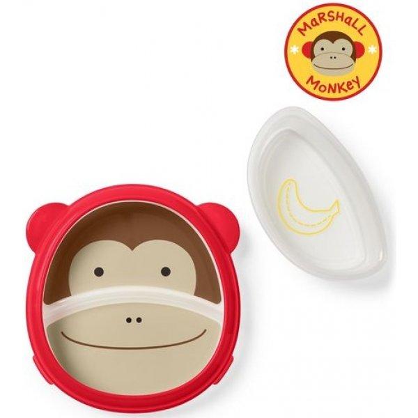 Skip Hop Zoo 2v1 - talíř a miska Opička