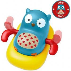 Skip Hop Zoo hračka plavoucí a pádlujíci sovička 12m+ Modrá