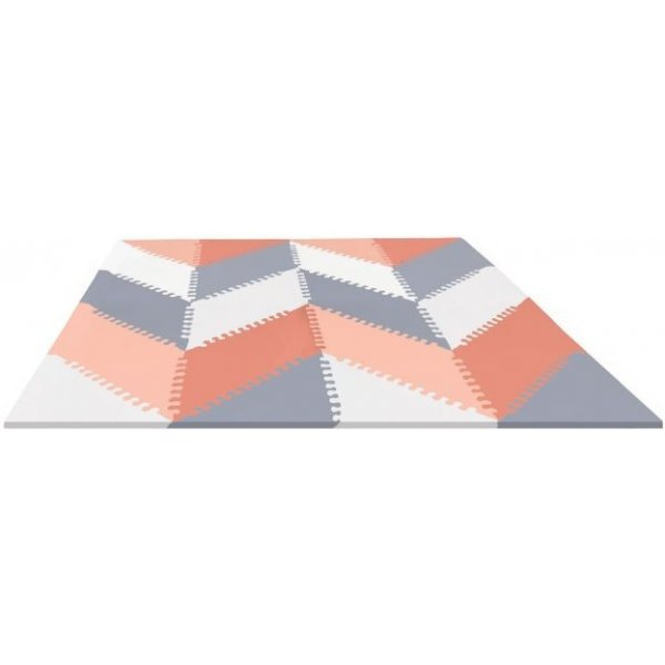 Skip Hop Puzzle pěnové - 72ks -10m+ šedo-oranžové