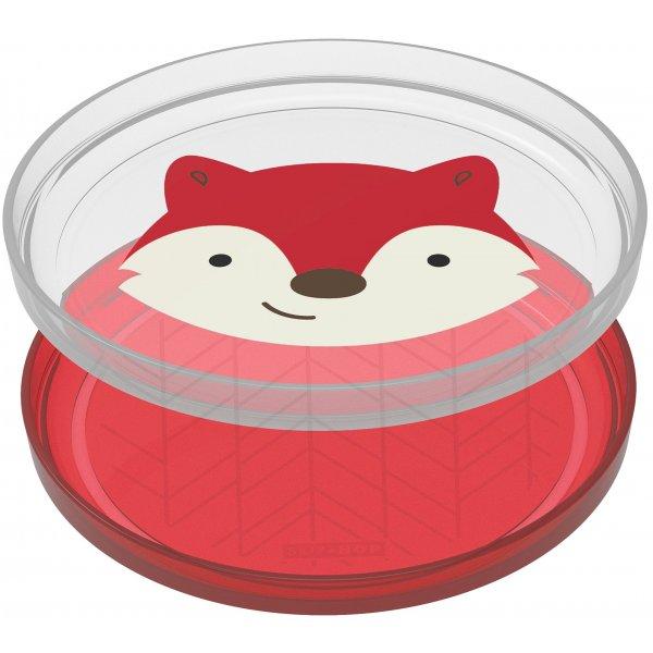 Skip Hop Zoo talířky protiskluzové 2 kusy - Liška 6m+ Červená