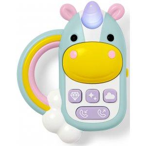 Skip Hop Hračka hudební telefon Jednorožec 6m+ Modrá