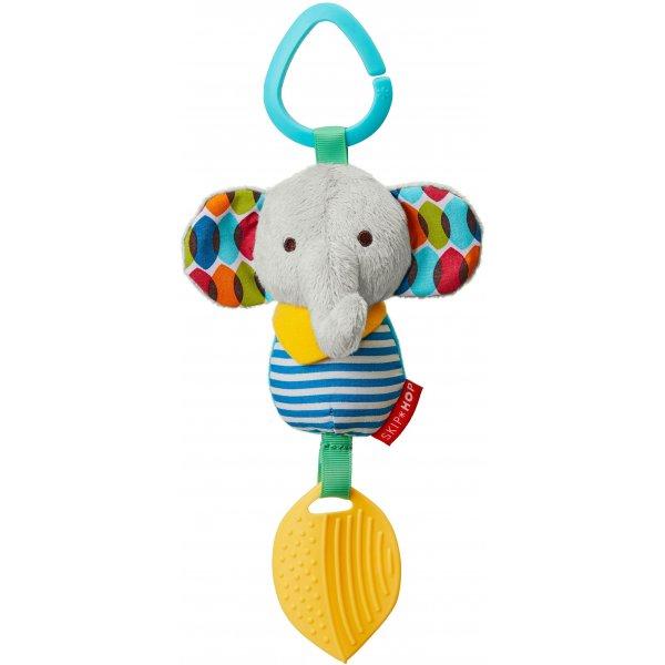 Skip Hop Hračka na C kroužku Bandana Buddies - Malý slon 0m+ Šedá