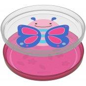 Skip Hop Zoo talířky protiskluzové 2 kusy - Motýl 6m+ Růžová