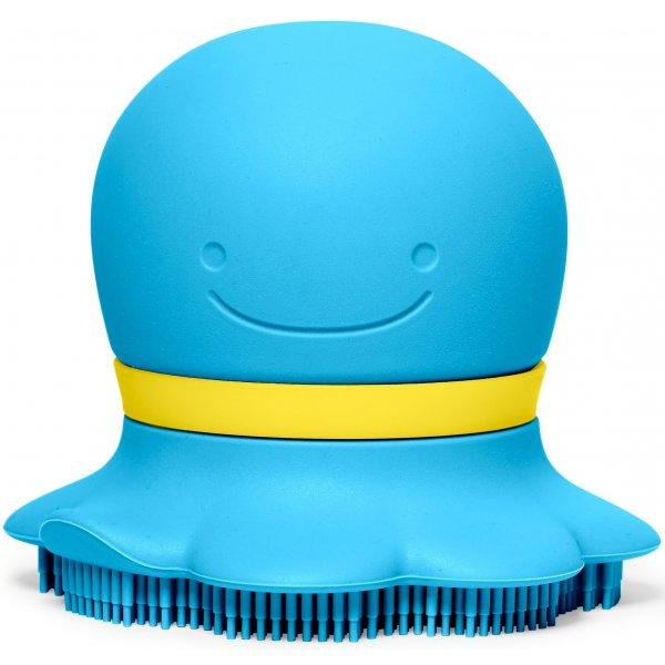 Skip Hop Houbička na mytí silikonová 2v1 Moby Modrá