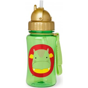Skip Hop Zoo Hrnek s brčkem bez PVC a BPA 12m+ Zelená