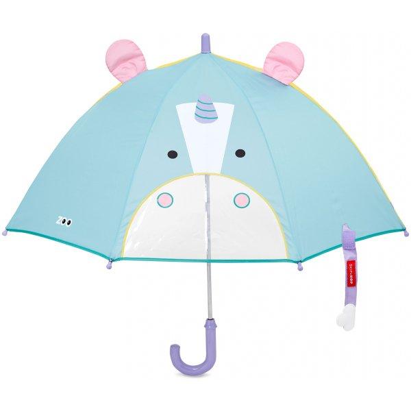Skip Hop Zoo deštník s okénkem na výhled Jednorožec 3+ Modrá