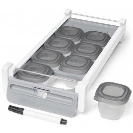 Skip Hop Držák do chladničky s označovačem a stohovatelných nádobkami na jídlo 8 x 60ml