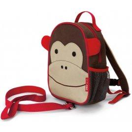 Skip Hop Zoo Batůžek s bezpečnostním vodítkem Opička 1+